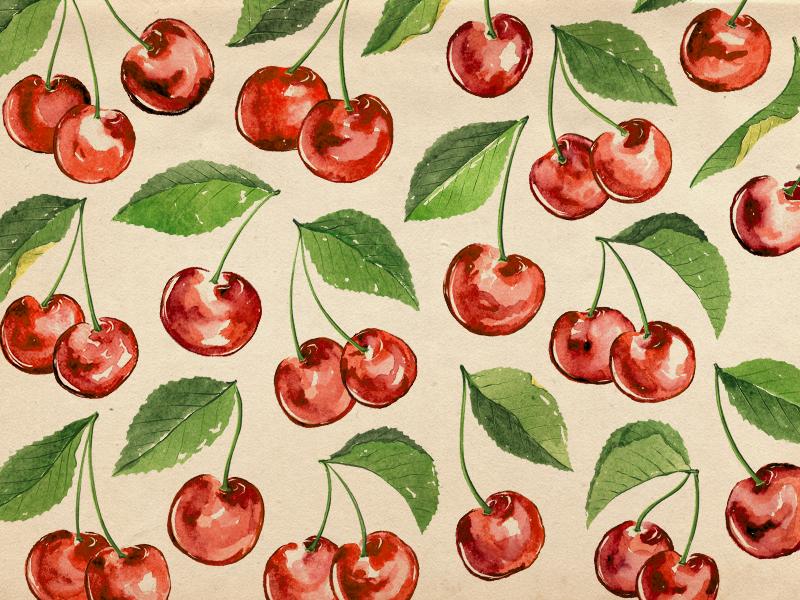 watercolor-cherries